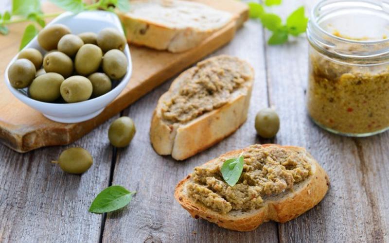 Tapenade di olive verdi Nocellara e nere Leccino
