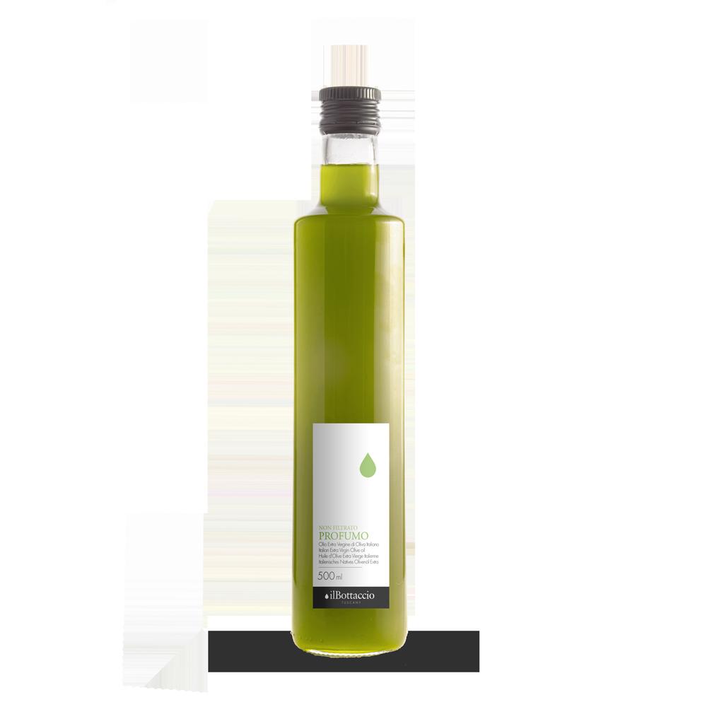 Neues natives Olivenöl extra, ungefiltert
