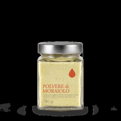Pulver toskanisches Olivenöl extra vergine Moraiolo