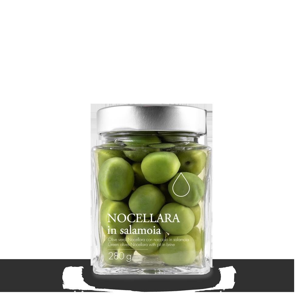 Oliven in Salzlake und extra vergine