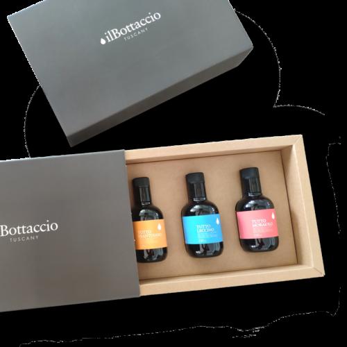 Geschenkbox aus nativem Olivenöl extra von Monocultivar