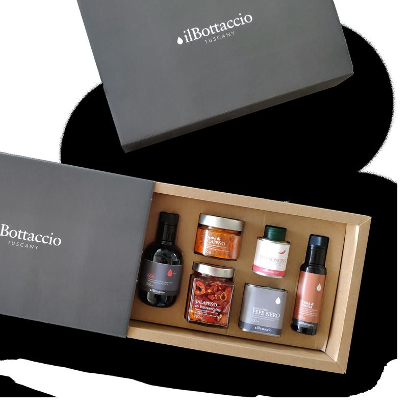 Confezione-regalo-olio-extravergine-Piccante