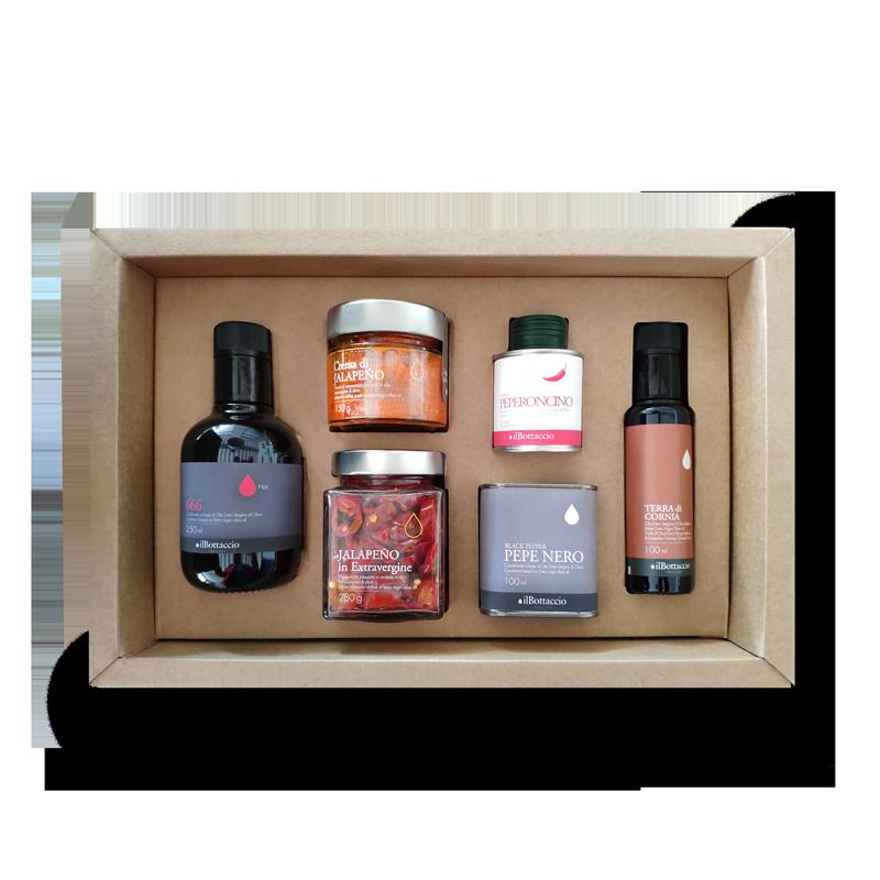 Confezione regalo olio piccante
