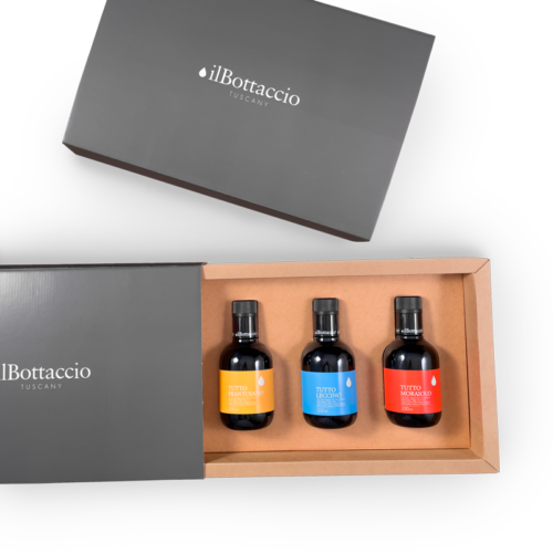 Monocultivar extra virgin olive oil gift box