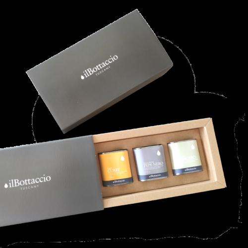 Geschenkbox mit aromatisierten Ölen