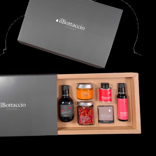 Würzige-extra-natives-Öl-Geschenkbox