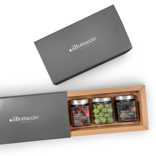 Gift box Olives in extra virgin olive oil