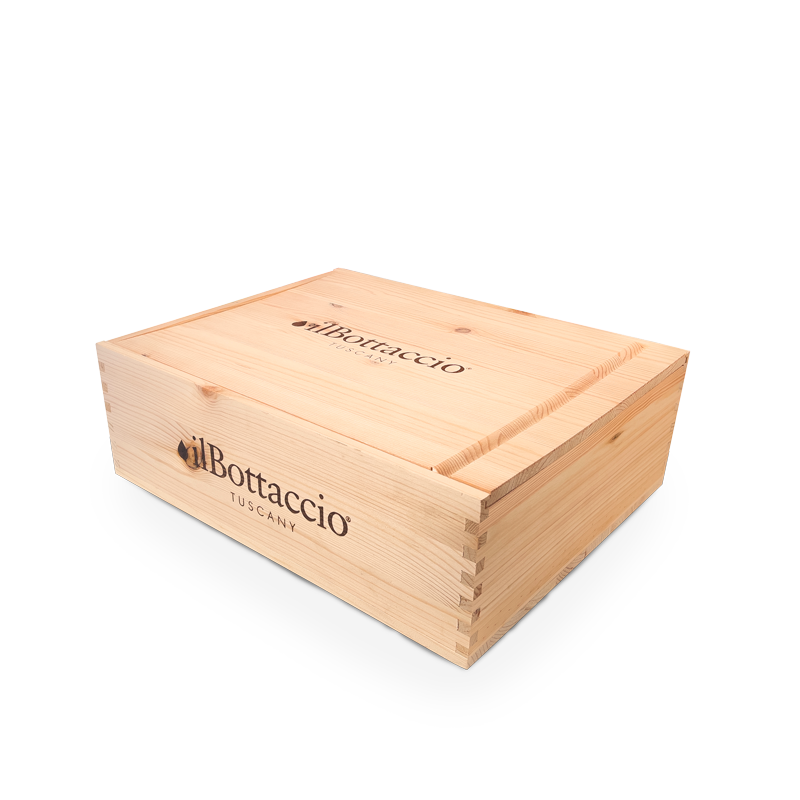 Small wooden gourmet gift box