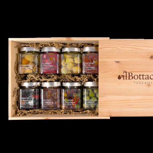 Confezione regalo olive toscane