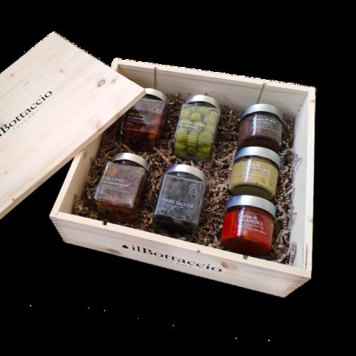 Geschenkbox für toskanische Oliven
