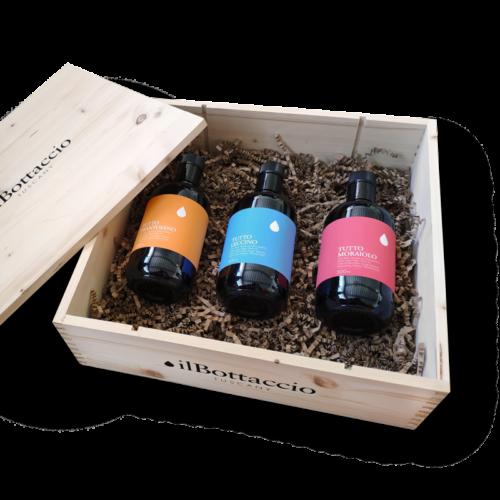 Monocultivar toskanisches Öl Geschenkbox