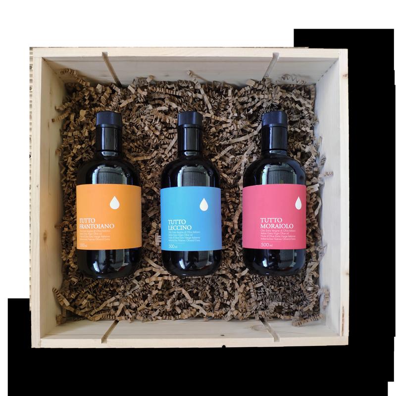 Cassetta regalo gourmet olio toscano