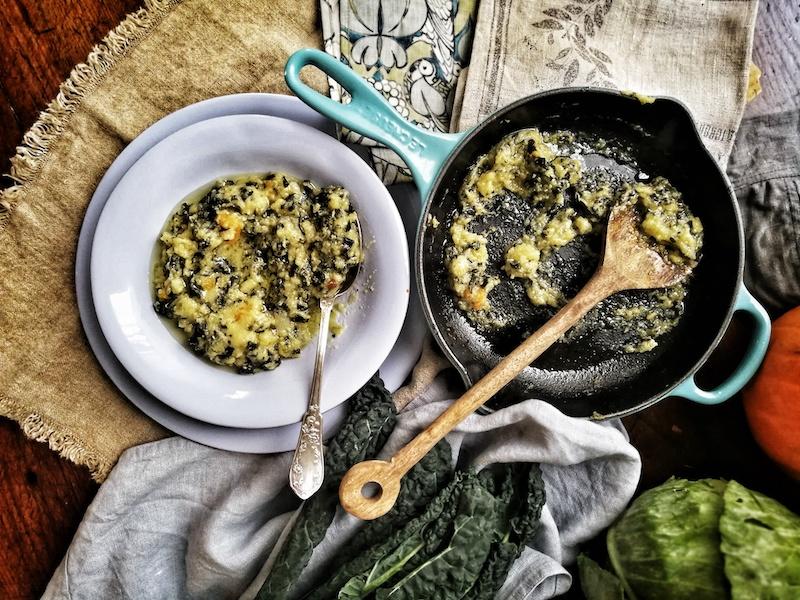 Farinata di cavolo nero con olio Extravergine Toscano